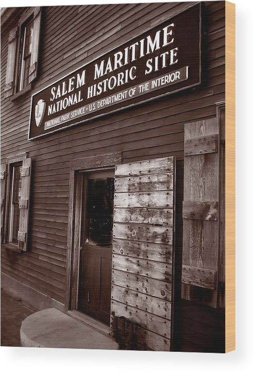 Salem Wood Print featuring the photograph Salem Maritime by Heather Weikel