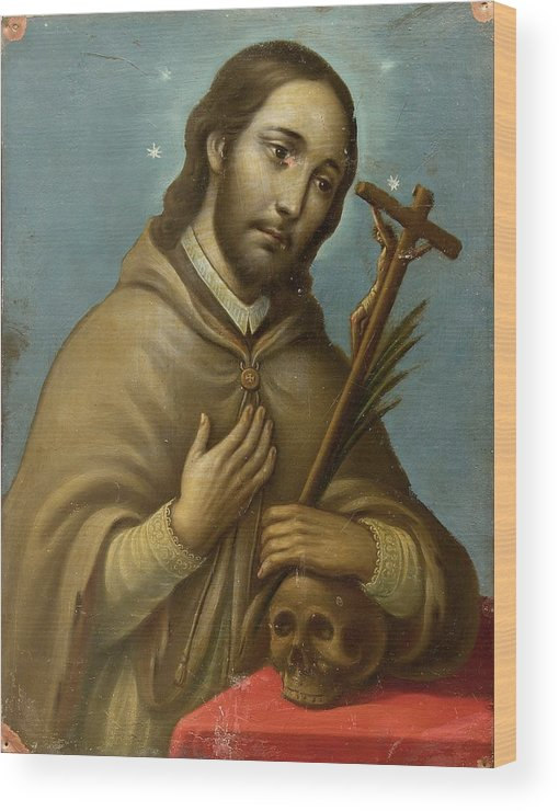 Religion Wood Print featuring the painting San Juan Nepomuceno by Unknown