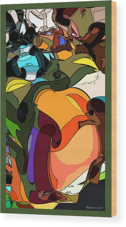 Wood Print featuring the digital art A Moment Of Clarity by Dennis Weiser