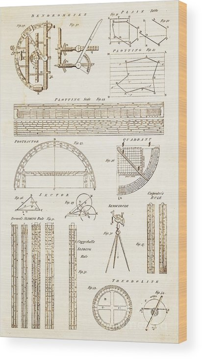 Bark Wood Print featuring the photograph Measuring Instruments And Techniques. by David Parker