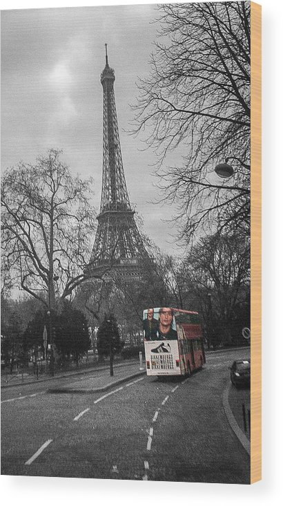 Paris Wood Print featuring the photograph Only In Color by Steven Taylor
