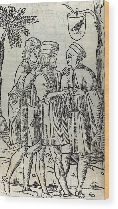 Human Wood Print featuring the photograph Palm Reading, 16th Century Artwork by British Library