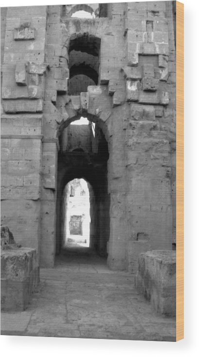 Roman Ruins Wood Print featuring the photograph Roman Ruin Twenty-one by James Bryant