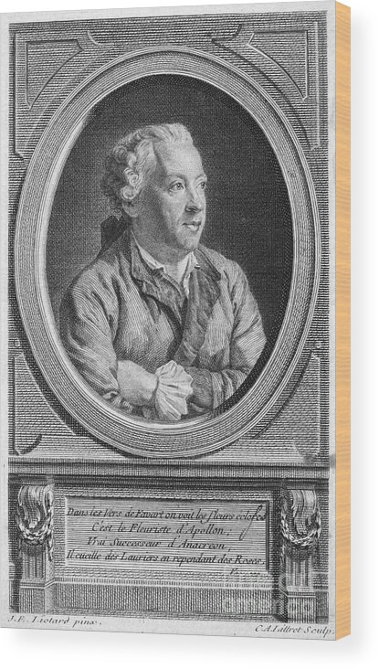 18th Century Wood Print featuring the photograph Charles Simon Favart by Granger
