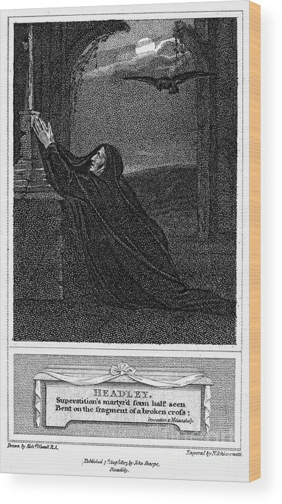 1785 Wood Print featuring the photograph Invocation To Melancholy by Granger