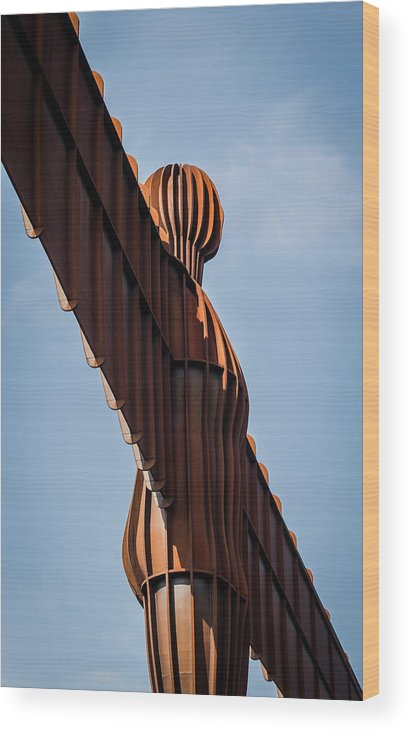 Angel Of The North Wood Print featuring the photograph Angel by Nicole Williams