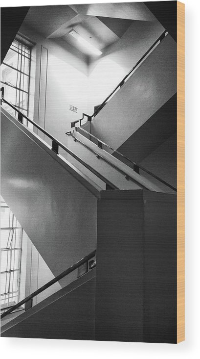Staircase Wood Print featuring the photograph Deco Stairs by Philip Openshaw