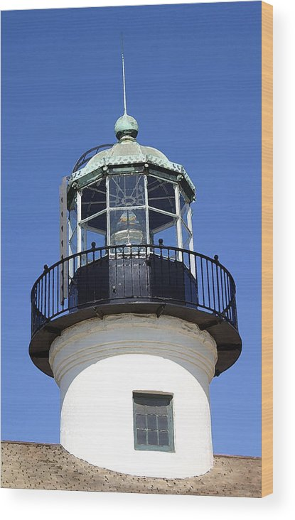 Lighthouse Wood Print featuring the photograph Light Sentry by Mary Haber