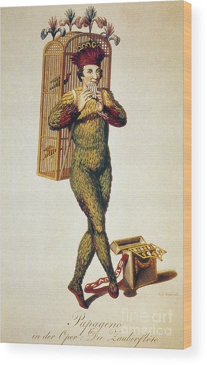 1791 Wood Print featuring the photograph Mozart: Magic Flute, 1791 by Granger