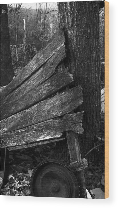 Wood Print featuring the photograph Olddoornextdoor21-23 by Curtis J Neeley Jr