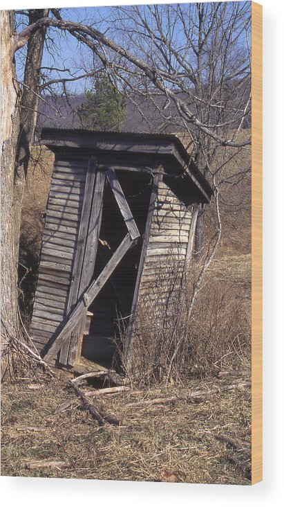 Wood Print featuring the photograph Outhouse3 by Curtis J Neeley Jr