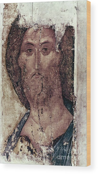 15th Century Wood Print featuring the photograph Russian Icons: The Saviour by Granger