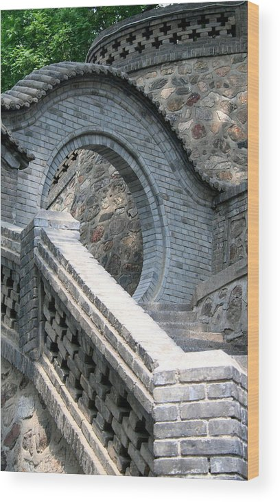 Stairway Wood Print featuring the photograph Stairway by Erika Lesnjak-Wenzel