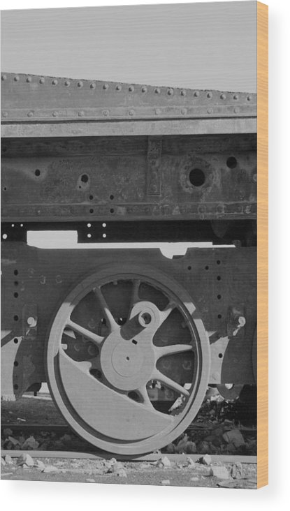 Train Wood Print featuring the photograph Train Wheel by Marcus Best