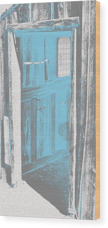 Door Wood Print featuring the digital art Blue Door by Douglas Settle