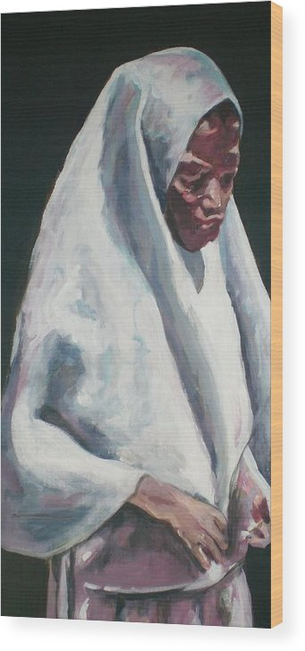 Africa Wood Print featuring the painting African School Girl by Aleksandra Buha