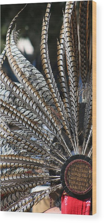 Swan Wood Print featuring the photograph Aztec Danza 2 by LoungeMode Productions