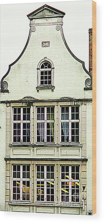 Bruges Wood Print featuring the photograph Bruges Window 8 by Randall Weidner