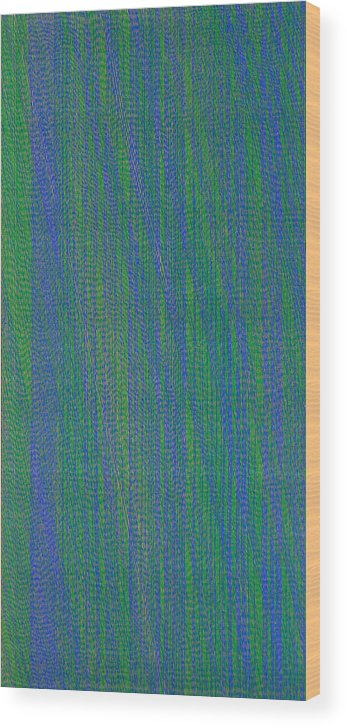 Green Blue Abstract Pattern Wood Print featuring the painting Grbl79 by Joan De Bot