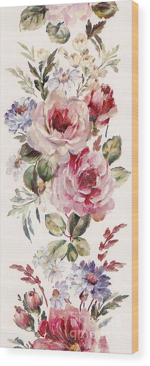 Writermore Wood Print featuring the mixed media Blossom Series No. 1 by Writermore Arts