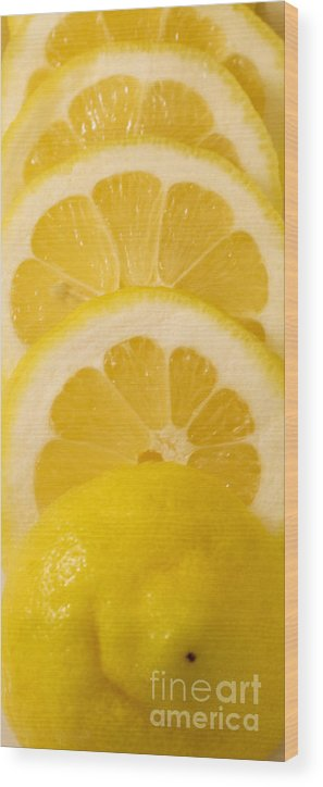 Lemon Wood Print featuring the photograph Lemon by Robin Lynne Schwind