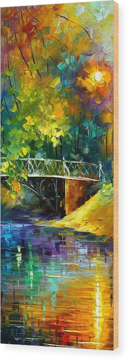 Afremov Wood Print featuring the painting Aura Of Autumn 3 by Leonid Afremov