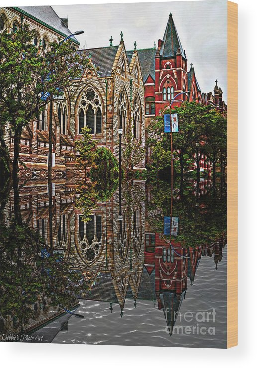 Architecture Wood Print featuring the photograph Historic Church St Louis Mo 2 by Debbie Portwood