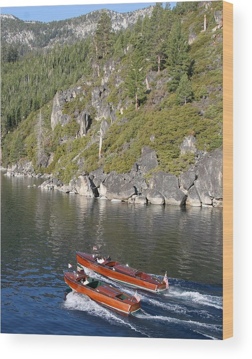 Riva Wood Print featuring the photograph Tahoe Classics by Steven Lapkin