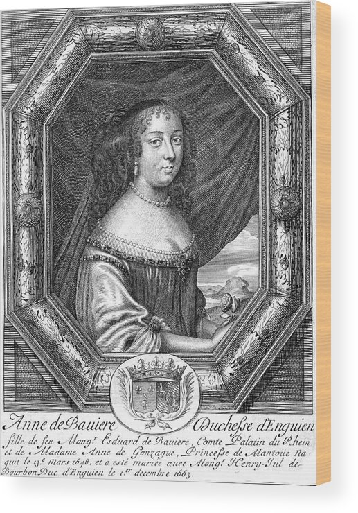 Anne Wood Print featuring the drawing Anne De Baviere Duchesse D'enghien by Mary Evans Picture Library