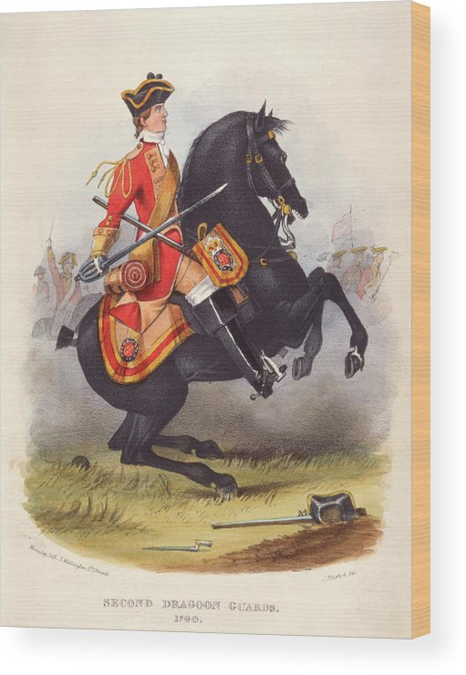 Military Wood Print featuring the drawing Britain A Member Of The Second Dragoon by Mary Evans Picture Library