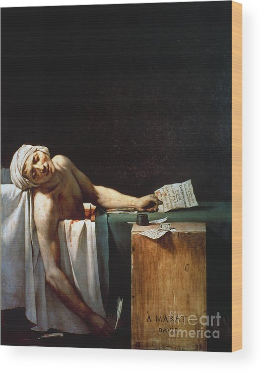 1793 Wood Print featuring the photograph David: The Death Of Marat by Granger