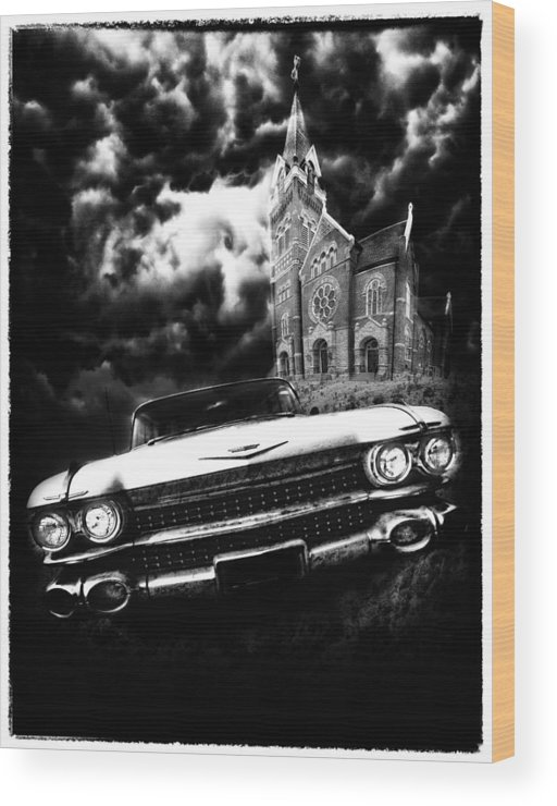 Americana Wood Print featuring the photograph Escape From Chapel Doom by Stephen Hooker