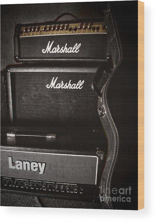 Music Wood Print featuring the photograph Guitar by Piotr Rataj