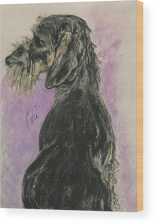 Dachshund Wood Print featuring the drawing Hot Wired by Cori Solomon