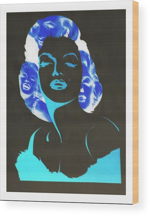 Marilyn Monroe Wood Print featuring the photograph M M I N N E G A T I V E O R I G I N A L by Rob Hans