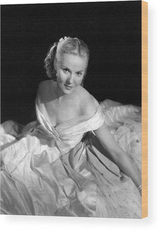 1950 Movies Wood Print featuring the photograph Madeleine, Ann Todd, 1950 by Everett