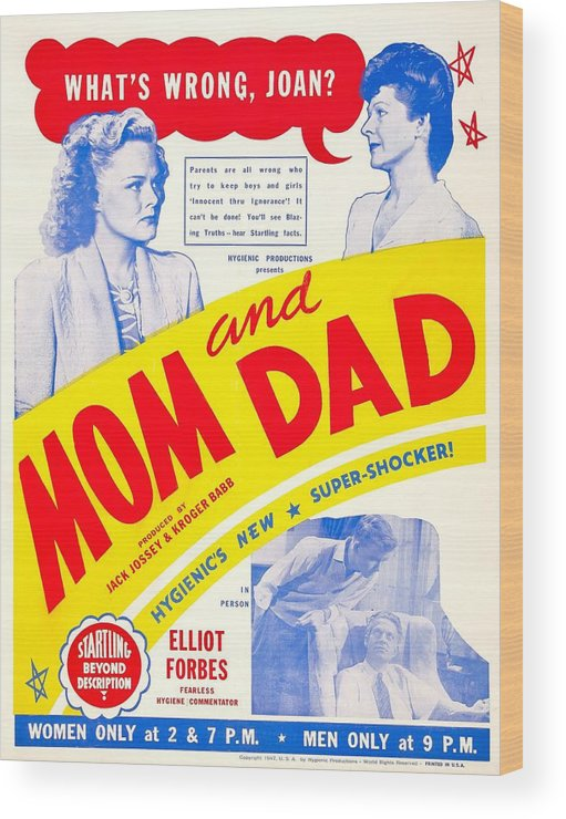 1940s Movies Wood Print featuring the photograph Mom And Dad, Us Poster, Top From Left by Everett