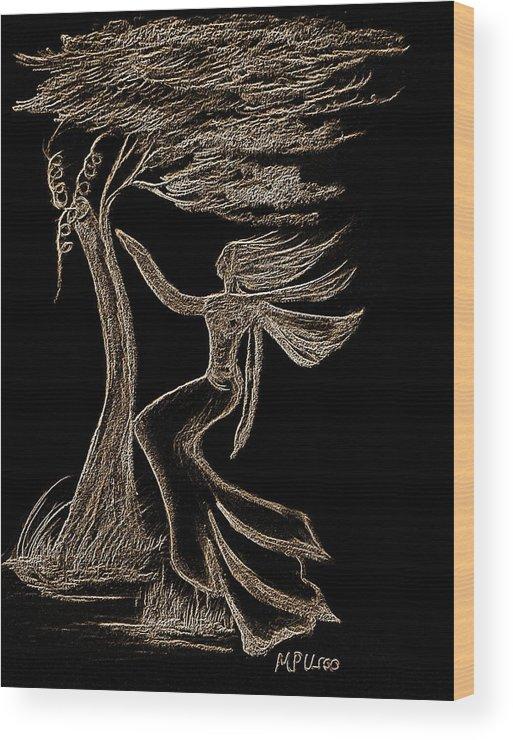 Nightwind Wood Print featuring the digital art Nightwind by Maria Urso
