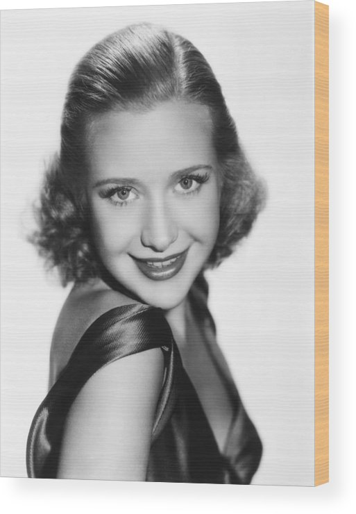 1930s Hairstyles Wood Print featuring the photograph Priscilla Lane, Ca. Late 1930s by Everett