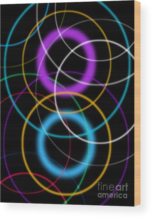 Ring Wood Print featuring the photograph Quantum Physics, Conceptual Artwork by Victor De Schwanberg