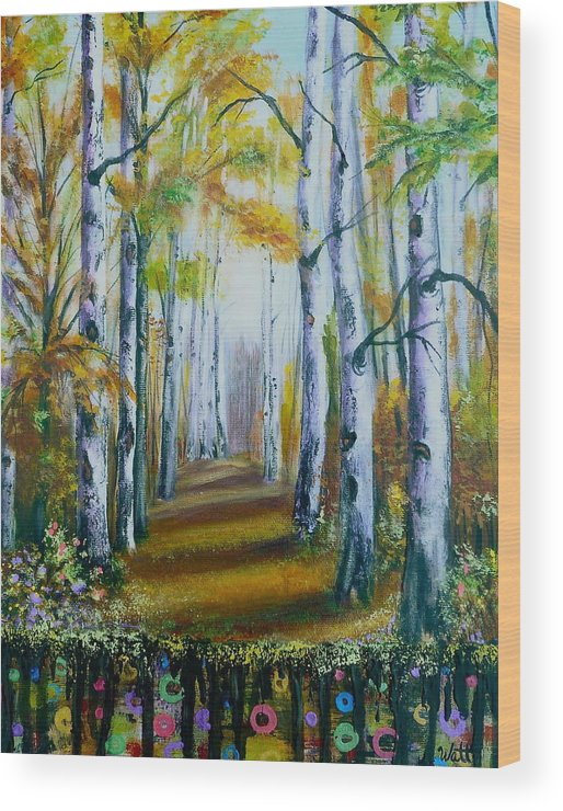 Blackfoot Historic Park Wood Print featuring the painting Reserved Land by Tammy Watt