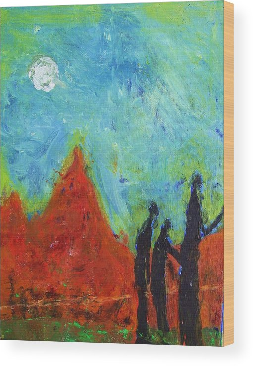 Acrylic On Canvas Wood Print featuring the painting Searchers by Ron Klotchman