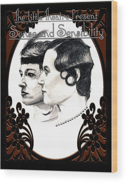 Print Wood Print featuring the drawing Sense And Sensibility by Steve Jones