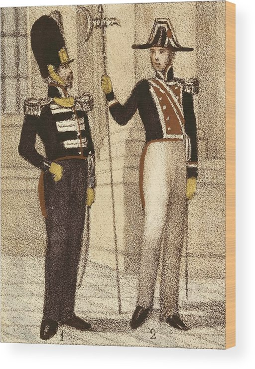Man Wood Print featuring the photograph Spain 1833. Royal Guard Infantry by Everett