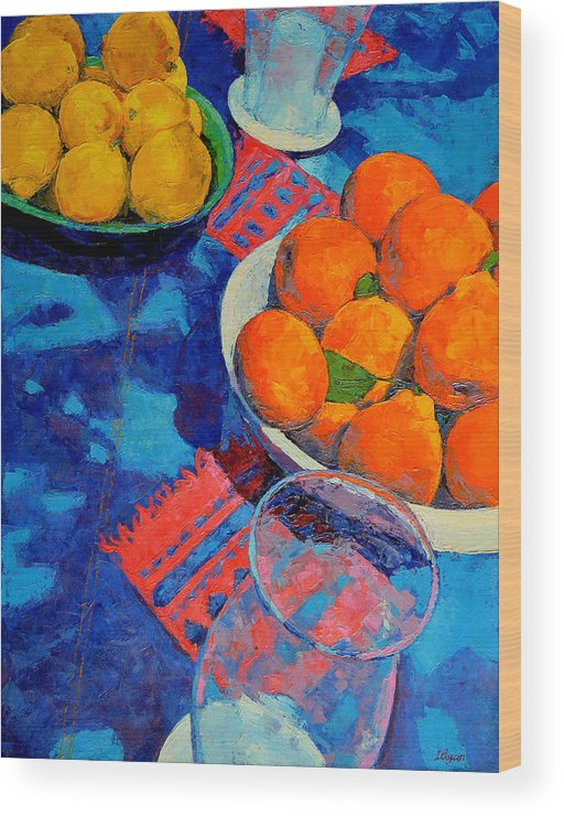 Still Life Wood Print featuring the painting Still Life 2 by Iliyan Bozhanov