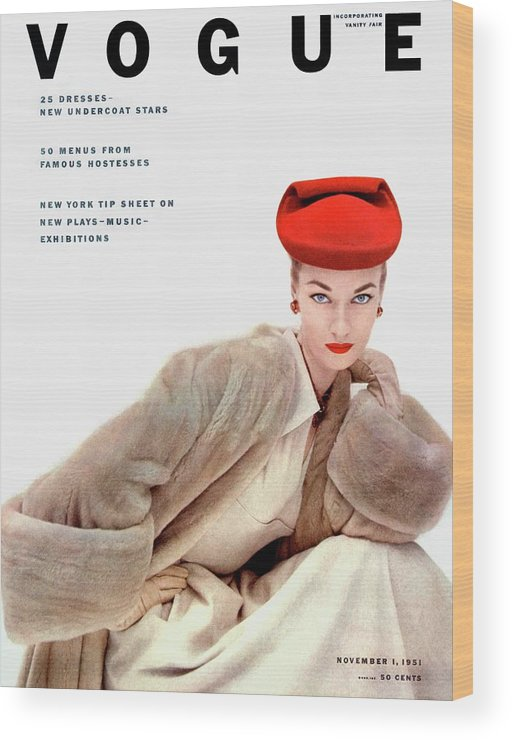 Fashion Wood Print featuring the photograph Vogue Cover Of Janet Randy by Clifford Coffin