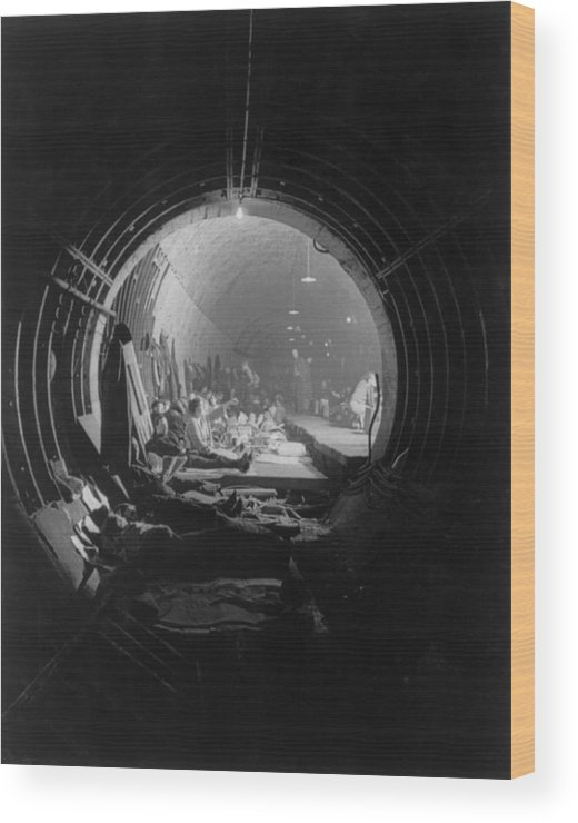 History Wood Print featuring the photograph World War 2, Battle Of Britain. Subway by Everett