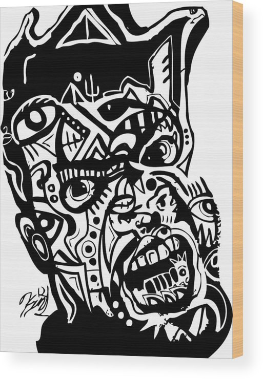 Blackartist Wood Print featuring the digital art Kamoni-khem by Kamoni Khem