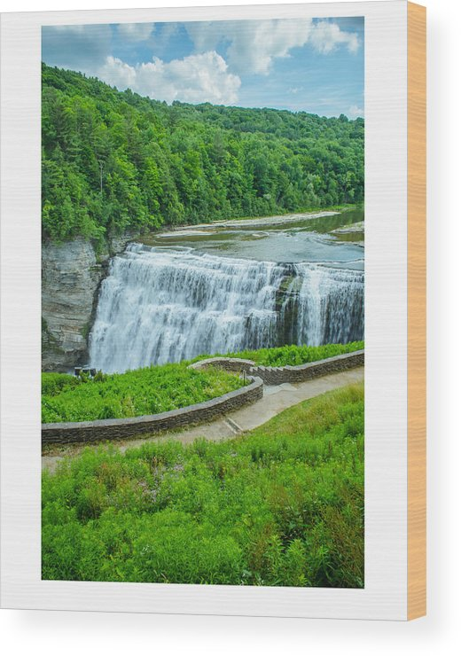 Waterfalls Wood Print featuring the photograph Letchworth Upper Falls by Michael Pope