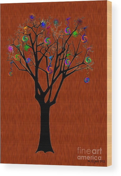 Wood Print featuring the digital art lollipop Tree by Max Cooper